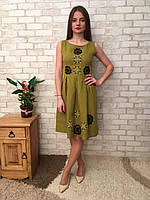 Сукня жіноча з льону