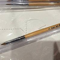 Пензель для акрилу з дерев'яною ручкою № 2