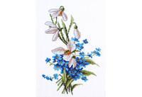 Повітруля Набор для вышивки крестом Весняні квіти П6009