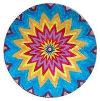 """Декоративная тарелка диаметром 42 см """"Солнцесияние 1""""  шамотной трипольской глины станет изысканным"""
