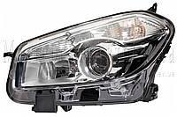 Nissan Qashqai - замена галогенных линз на светодиодные Bi-LED линзы Optima Premium