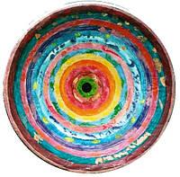 """Декоративная тарелка диаметром 42 см  """"Спектр Космоса"""" шамотной трипольской глины станет изысканным"""