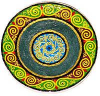 """Декоративная тарелка диаметром 42 см """"Славяне. Ясное небо""""  шамотной трипольской глины станет изысканным"""