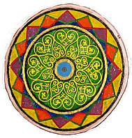 """Декоративная тарелка диаметром 42 см """"Восхитительный День""""  шамотной трипольской глины станет изысканным"""