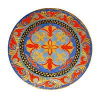 """Декоративная тарелка диаметром 42 см """"Орнаментстан""""  шамотной трипольской глины станет изысканным"""