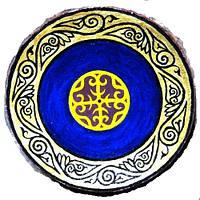 """Декоративная тарелка диаметром """"Византия"""" из высококачественного шамотной трипольской глины станет изысканным"""