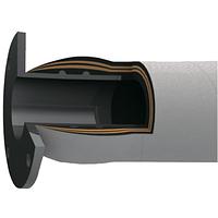 Рукав для жидкостей с двойным стекловолокном (с рабочей наружной температурой до 600 С) со встроенным фланцем
