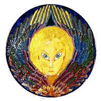 """Декоративная тарелка диаметром 42 см """"Ангел света"""" шамотной трипольской глины станет изысканным"""