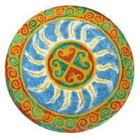 """Декоративная тарелка диаметром 42 см """"Солнцеворот"""" шамотной трипольской глины станет изысканным"""