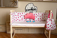 """Бампери у дитяче ліжечко """"Рожевий фламінго"""""""