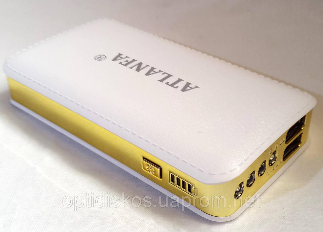 Универсальная батарея Atlanfa Elite AT-2015, 7200mAh, 2 USB + фонарик