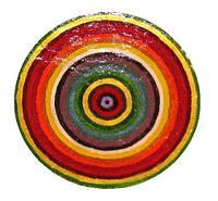 """Декоративная тарелка диаметром 42 см """"Спектр сытости 2"""" шамотной трипольской глины станет изысканным"""