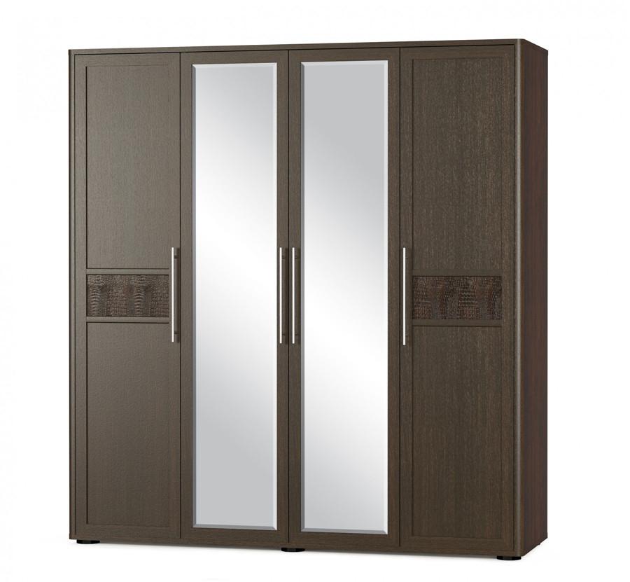 """Распашной шкаф на 4 двери, элемент спального гарнитура """"Токио"""" от фабрик Мебель-Сервис. Модель Шкаф-4Д"""