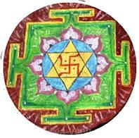 """Декоративная тарелка диаметром 42 см """"Индуизм""""  шамотной трипольской глины станет изысканным"""