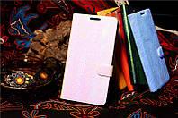 Чехол книжка Lenovo A319 под кожу змеи голубой цвет