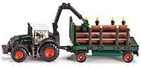 Трактор с прицепом для перевозки леса 1:87. Siku