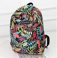Рюкзак женский городской Листики (красный), фото 1