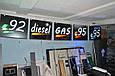 Табло для АЗС 1400x400x40 на зеленых матовых светодиодах, фото 9
