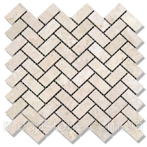 Мраморная мозаика МКР-5П (полированная) 48*23*6 Victoria Beige