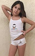 Комплект детского нижнего белья белого цвета размер 116-140 см