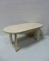 Кукольная мебель Стол овальный
