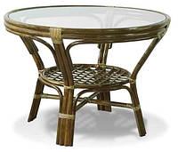Стол обеденный круглый из ротанга , фото 1