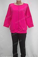 Женский спортивный костюм батал розовый