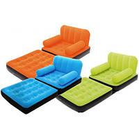 Надувное кресло кровать трансформер Bestway 67277 / надувная кровать
