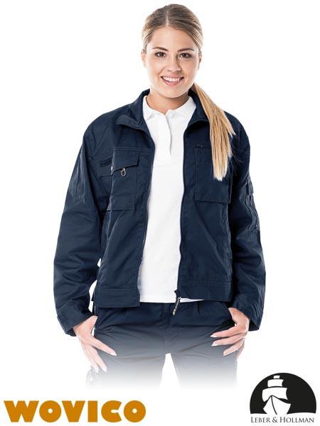 Куртка жіноча комфортна робоча темно-синя Lebber&Hollman Польща (спецодяг для механіків) LH-WOMWILER G