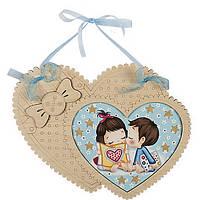 Набор для вышивания бисером c фигурной рамкой Сердце