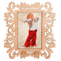 Набор для вышивания бисером c фигурной рамкой Фото рамка