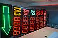 Табло для АЗС 1400x400x40 на красных матовых светодиодах, фото 6