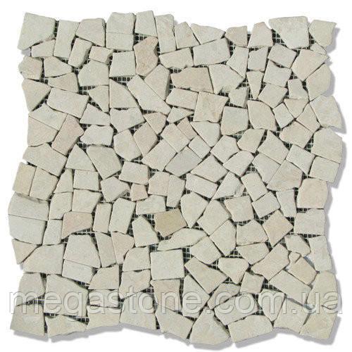 Мраморная мозаика хаотичная МКР-Х С6 (старенная/валтованная) Victoria Beige