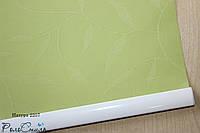 Рулонные шторы ткань НАТУРА 2257 салатовый цвет 40см