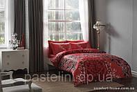 TAC евро комплект постельного белья saten Delux Fabia red