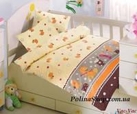 """Детский комплект постельного белья в кроватку ALTINBASAK """"Vac-Vac"""" кофейный"""