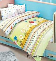 """Детский комплект постельного белья в кроватку ALTINBASAK """"Culucuk"""" зелёный"""
