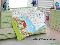 """Детский комплект постельного белья в кроватку ALTINBASAK """"Happy Kids"""" голубой"""