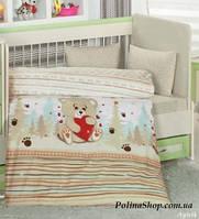 """Детский комплект постельного белья в кроватку ALTINBASAK """"Ayicik"""" кофейный"""