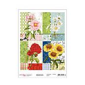 Декупажная карта А4 Цветочный коллаж Rosa, 55 г/м 696022