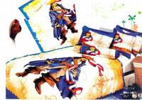 """Детский комплект постельного белья ЭЛИТ Сатин 3D """"Пираты карибского моря"""" Полуторный"""