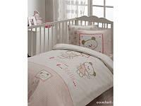 Детский набор в кроватку для младенцев Karaca Home - Stella розовое 7 предметов