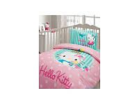 Детский набор в кроватку для младенцев Karaca Home - Hello Kitty зеленый 7 предметов