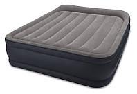 Велюр кровать Intex (64136) 203х152х42 см, с встроенным эл насосом 220 В