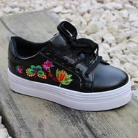Красивые цветочные кроссовки, фото 1