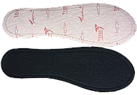 Стельки обувные на кожкартоне с байкой СТ-14