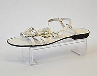 Женские белые босоножки на плоской подошве Rizzoli