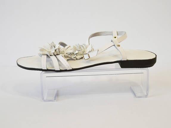 Женские белые босоножки на плоской подошве Rizzoli, фото 2