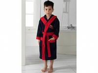 Детский халат для мальчика Philippus темно-синий с машинкой 3-4 года