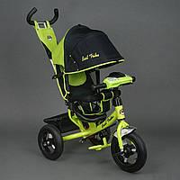 Велосипед 3-х колёсный Best Trike Салатовый арт. 6588 В (надувные колеса, фара, ключ зажигания)